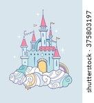 vector magic cute baby  fairy... | Shutterstock .eps vector #375803197