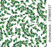 floral seamless pattern... | Shutterstock . vector #375804517