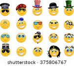 emoticon vector style smile... | Shutterstock .eps vector #375806767