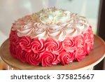 Pink  Wedding Cake Decorated...