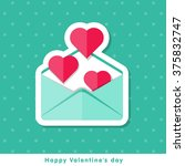 happy valentine day icon in... | Shutterstock .eps vector #375832747