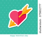 happy valentine day icon in... | Shutterstock .eps vector #375832777