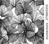gingko biloba seamless vector...   Shutterstock .eps vector #375845353