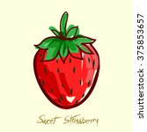 Sweet Strawberry Fruit Doodle....