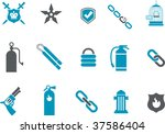 vector icons pack   blue series ... | Shutterstock .eps vector #37586404