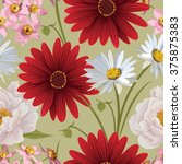 floral seamless patterns with... | Shutterstock .eps vector #375875383