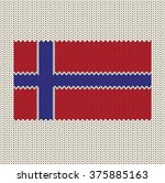 knitted norway flag | Shutterstock .eps vector #375885163