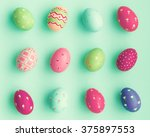 Candy Color Easter Eggs Over...