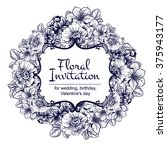 vintage delicate invitation... | Shutterstock . vector #375943177