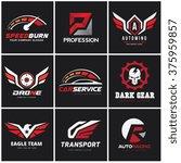 automotive car services logo set   Shutterstock .eps vector #375959857
