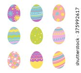 happy easter greeting card    Shutterstock .eps vector #375992617