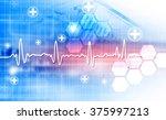 electrocardiogram  ecg  ekg  | Shutterstock . vector #375997213