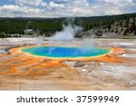 grand prismatic spring in... | Shutterstock . vector #37599949