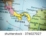 map view of panama  panama on a ... | Shutterstock . vector #376027027