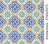 seamless patchwork pattern from ... | Shutterstock .eps vector #376029073