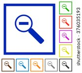set of color square framed zoom ...