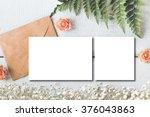 stylish branding mockup to... | Shutterstock . vector #376043863