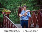 happy couple | Shutterstock . vector #376061107