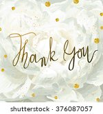 vector thank you card template... | Shutterstock .eps vector #376087057
