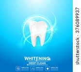 dental care tooth icon vector... | Shutterstock .eps vector #376089937