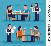 dinner  restaurant  pixel... | Shutterstock .eps vector #376090303