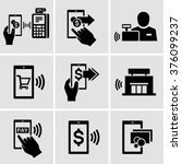mobile payment vector icons  | Shutterstock .eps vector #376099237