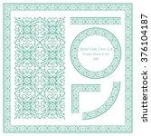 vintage frame pattern set 080... | Shutterstock .eps vector #376104187