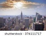 skyline manhattan  nyc. | Shutterstock . vector #376111717