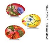vector image of easter eggs... | Shutterstock .eps vector #376127983