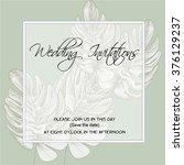 wedding invitation on the... | Shutterstock .eps vector #376129237