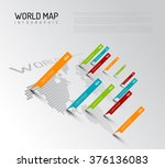 light world map infographic... | Shutterstock .eps vector #376136083