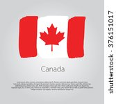 canada flag with colored hand... | Shutterstock .eps vector #376151017