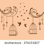 vector illustration of a bird... | Shutterstock .eps vector #376151827