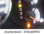 set of car dash boards petrol... | Shutterstock . vector #376160953