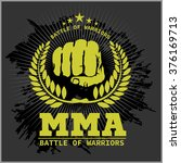 fight club mma mixed martial... | Shutterstock .eps vector #376169713