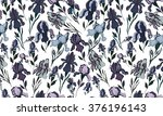 floral background.iris flower | Shutterstock . vector #376196143