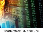 financial data on a monitor.... | Shutterstock . vector #376201273
