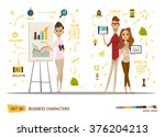 business characters set  | Shutterstock .eps vector #376204213