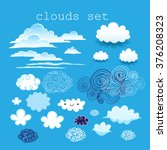 set of different clouds in the... | Shutterstock .eps vector #376208323