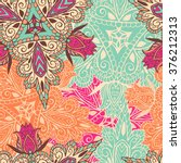 mandala vector pattern.... | Shutterstock .eps vector #376212313