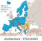 migration crisis in europe....   Shutterstock .eps vector #376216363