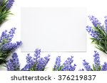 mockup with artifical lavender... | Shutterstock . vector #376219837