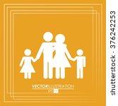 family icon design  | Shutterstock .eps vector #376242253