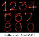 blurred word writing from light ... | Shutterstock . vector #376254457
