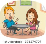 illustration of a woman getting ... | Shutterstock .eps vector #376274707