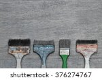 still life photo. paint brushes ... | Shutterstock . vector #376274767