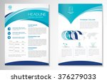 Vector Brochure Flyer design Layout template, size A4, Front page and back page, infographics. Easy to use and edit. | Shutterstock vector #376279033