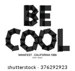 be cool type for clothing | Shutterstock .eps vector #376292923