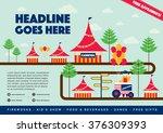 carnival theme template design... | Shutterstock .eps vector #376309393