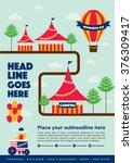 carnival theme template design... | Shutterstock .eps vector #376309417